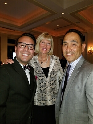 Antonio Anduaga (left), Heidi Culbertson (center), and The Global Chamber Executive Jeffrey Campos (right).